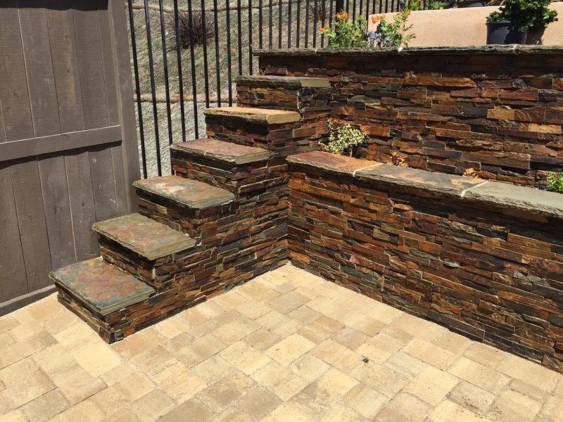 Stone Veneer steps